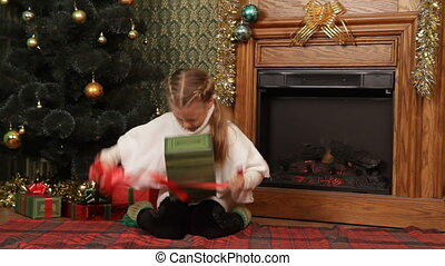 Opening a present