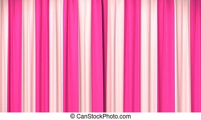 Opening and closing striped curtain