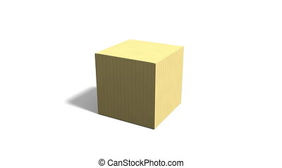 Opening Cardboard Box - 3D animation of opening cardboard...