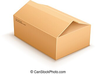 opening cardboard delivery parcel packaging box