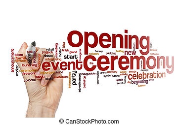 Opening ceremony word cloud concept