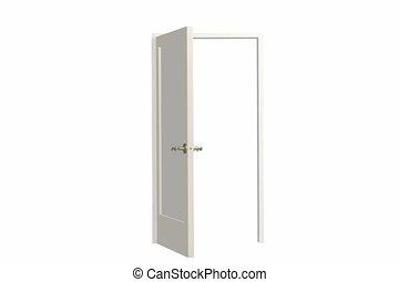 Opening door. Alpha channel is included
