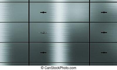 opening empty safety deposit box