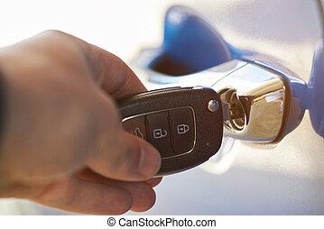 Opening modern car door