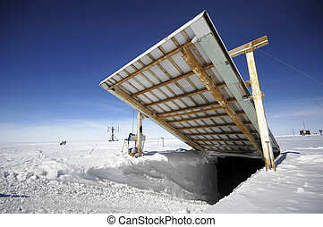 Opening near Antarctic research station - Opening for...