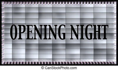 opening night marquee with and without text - Stock CGI...