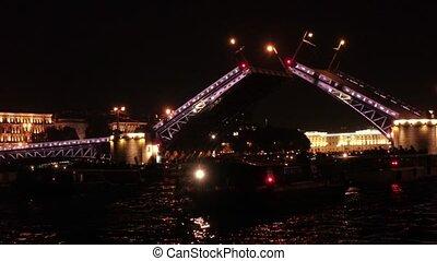 Opening of the bridge in St. Petersburg