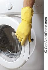 Opening of washing machine.