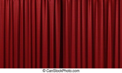 Opening red curtain 3d animation