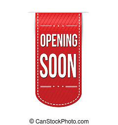 Opening soon banner design
