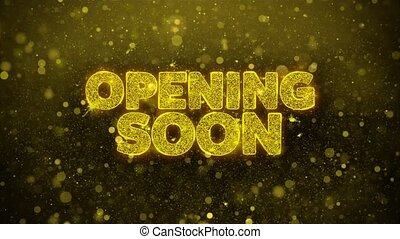 Opening Soon Wishes Greetings card, Invitation, Celebration...