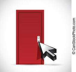 opening the door concept illustration design