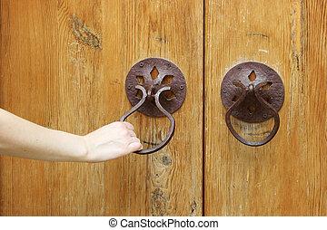 opening the old door