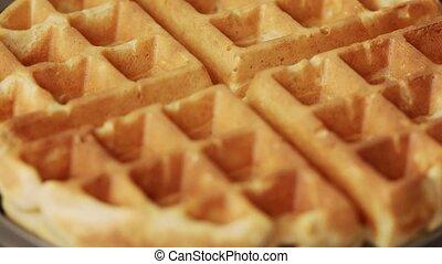 Opening waffle maker with waffles - Opening waffle maker ...