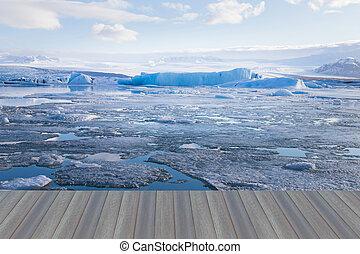 Jakulsarlon lagoon in winter season Iceland natural landscape