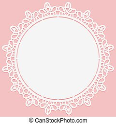 Openwork lace round doily. Suitable for laser cutting