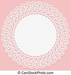 Openwork lace round frame. Suitable for laser cutting.