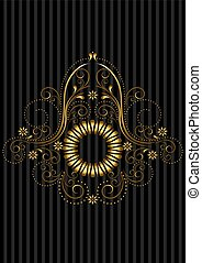 openwork, ouro, patterned, quadro
