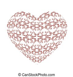Openwork pattern in the form of a heart