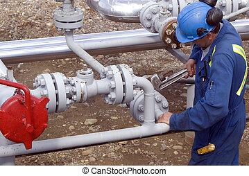 operátor, výroba, plyn