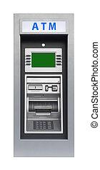 operação bancária,  ATM, isolado, máquina
