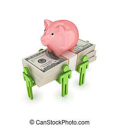 operação bancária, concept.