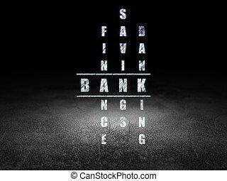 operação bancária, concept:, banco, em, palavras cruzadas