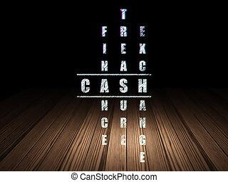 operação bancária, concept:, dinheiro, em, palavras cruzadas