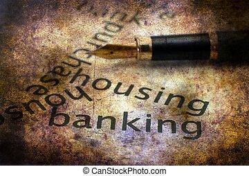operação bancária, habitação, conceito
