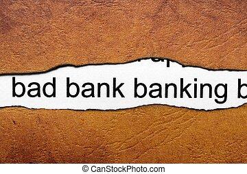 operação bancária, mau