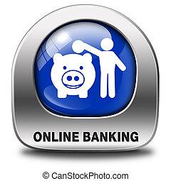 operação bancária, onine