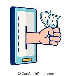 operação bancária, pessoas, online