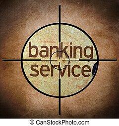 operação bancária, serviço, alvo