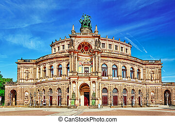 opera), concierto, sajonia, germany., staatsoper, sachsische...