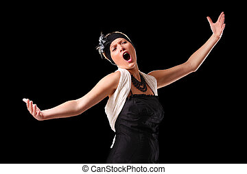 Opera diva - A picture of a young beautiful opera singer...