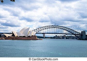 Opera house and Harbour bridge in Sydney Australia1