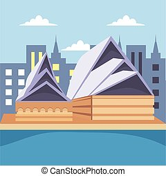 opera house building banner