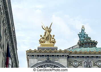 Opera in Paris, architectural detail