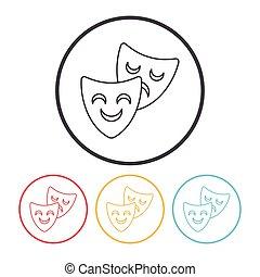 opera mask line icon