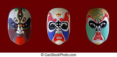 opera, maska, chińczyk