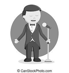 Opera singer man color