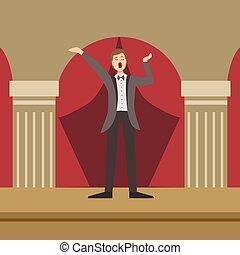 Opera Singer Performing In Classic Theatre