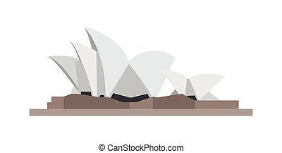 opera sydney australia monument icon