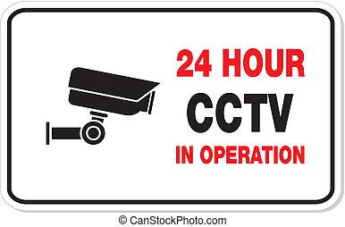 operación, cctv, rectángulo, señal