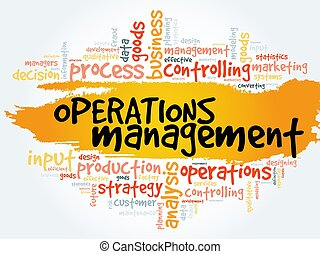 operaciones, collage, dirección, palabra, nube