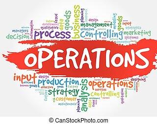operaciones, palabra, nube