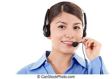 operador, centro chamada, femininas