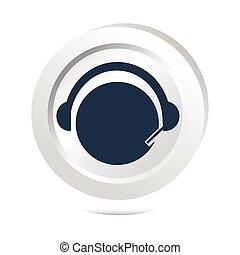 operador, contato, sinal, botão, ícone