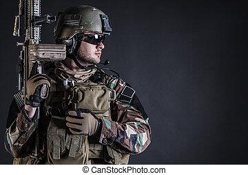 operador, marina, especial