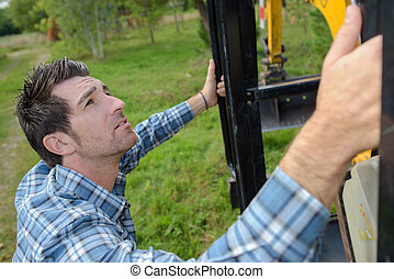 operating an excavator